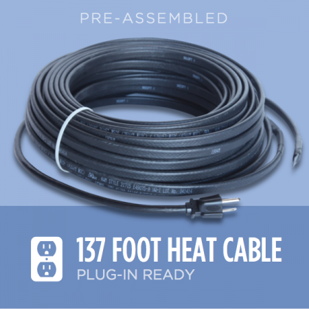 137-foot Ice Dam Heat Cable