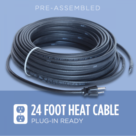 24 Foot Ice Dam Heat Cable