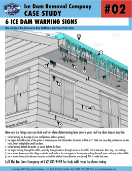 6 Ice Dam Warning Signs