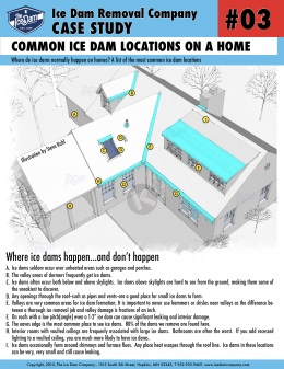 Common Ice Dam Locations on a Home