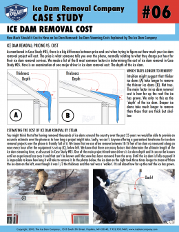 Ice Dam Removal Cost