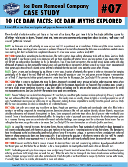 10 Ice Dam Facts: Ice Dam Myths Explored