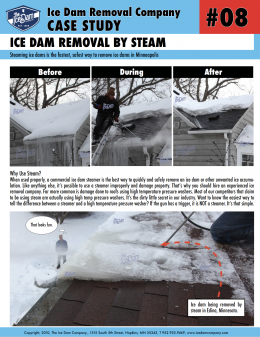 Ice Dam Removal by Steam