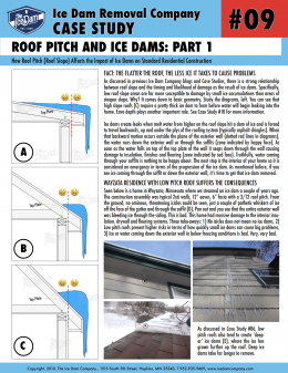 Roof Pitch and Ice Dams: Part 1