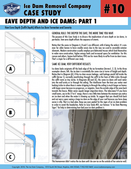 Eave Depth and Ice Dams: Part 1