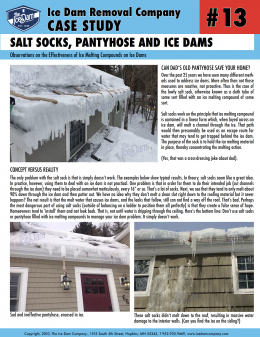 Salt Socks, Pantyhose and Ice Dams