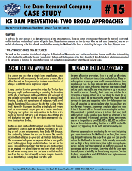 Ice Dam Prevention: Two Broad Approaches