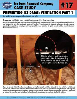 Preventing Ice Dams: Ventilation Part 1