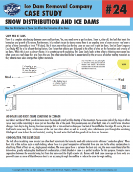 Snow Distribution and Ice Dams