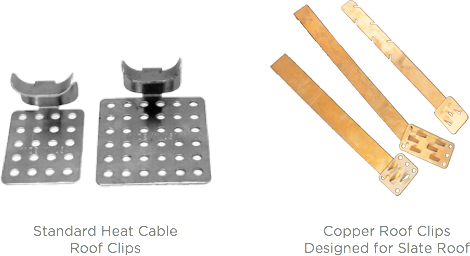 Clips And Brackets For Heat Cable Heat Tape And Deicing Coils