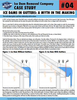 Ice Dams in Gutters: A Myth in the Making