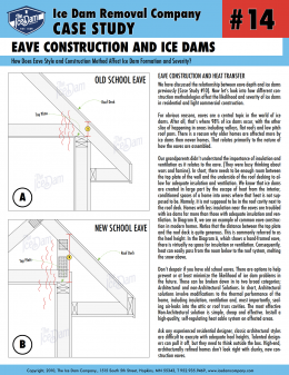 Eave Construction and Ice Dams