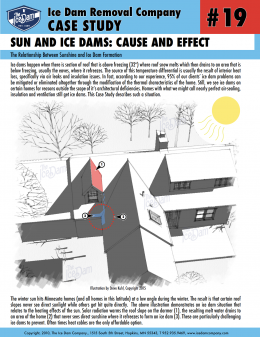 Sun and Ice Dams: Cause and Effect