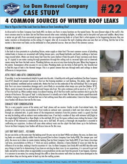 4 Common Sources of Winter Roof Leaks