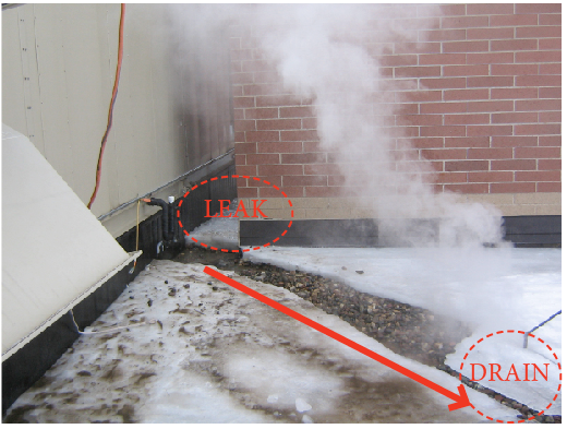 Fairview Hospital Ice Dam Steaming