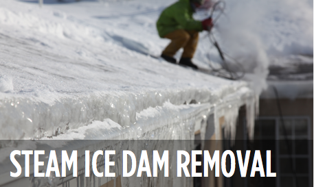 Steam Ice Dam Removal
